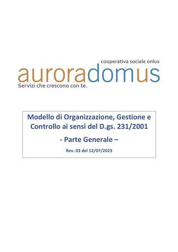 Modello 231 di Aurora Domus Parte Generale