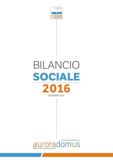 Bilancio Sociale 2016 ed 2017