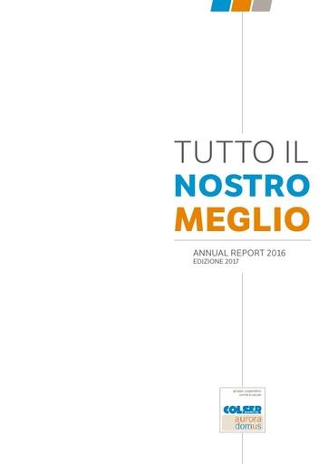 Annual Report 2016 edizione  2017