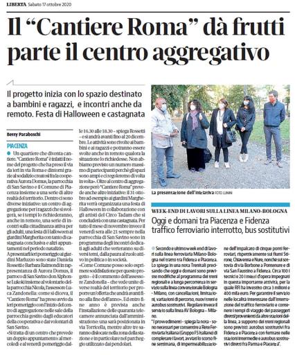 """Il """"Cantiere Roma"""" dà frutti: parte il centro aggregativo"""