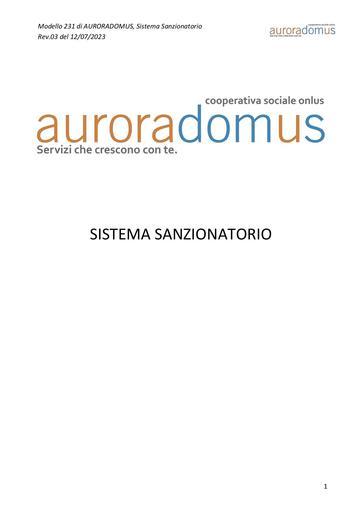 Sistema Sanzionatorio Aurora Domus
