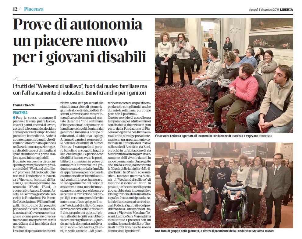 A Piacenza: prove di autonomia, un piacere nuovo per i giovani disabili
